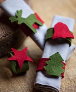 Argollas servilletas Navidad